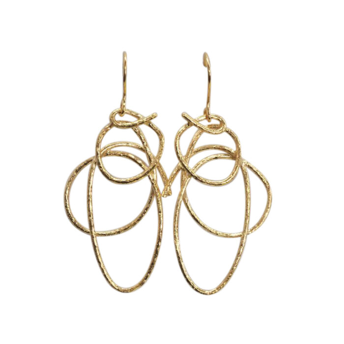 Abstract Wirework Drops (Gold Plate or Sterling Silver)