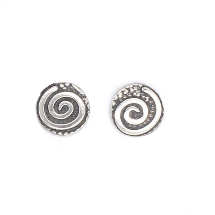 silver Swirl Studs