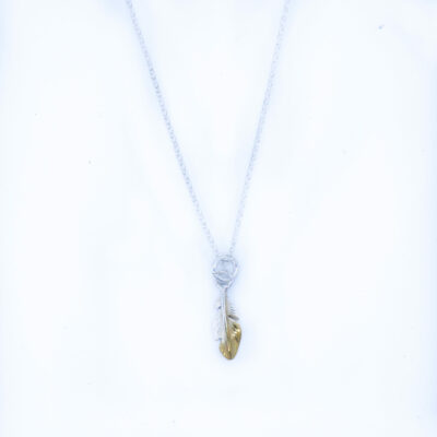Dainty Feather Drop Necklace- Armed & Gorgeous