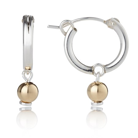 Small Gold and Silver Hoops