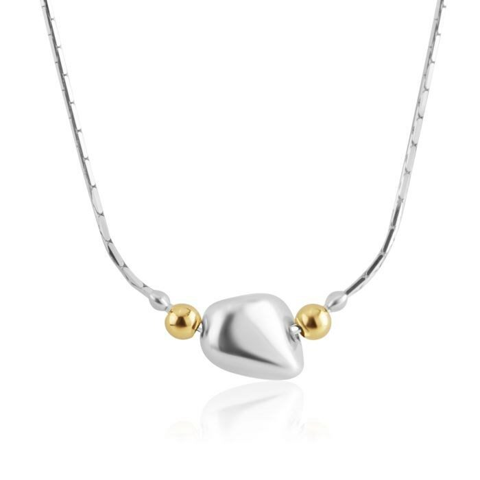 Gold and Silver Single Nugget Necklace