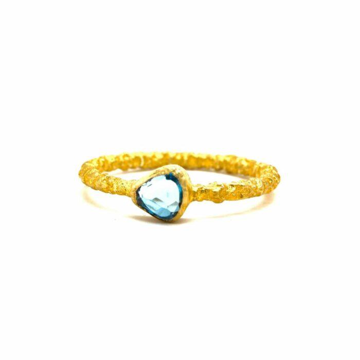 sky blue topaz gold ring