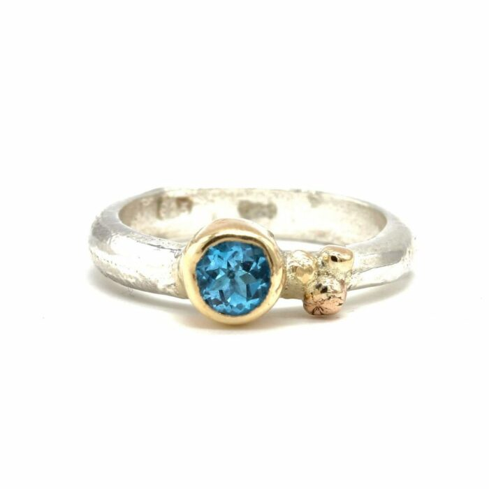 blue topaz sally ratcliffe ring gold silver jewellery