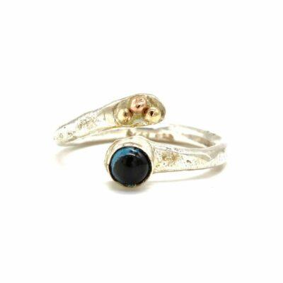 london blue topaz silver gold ring sally ratcliffe