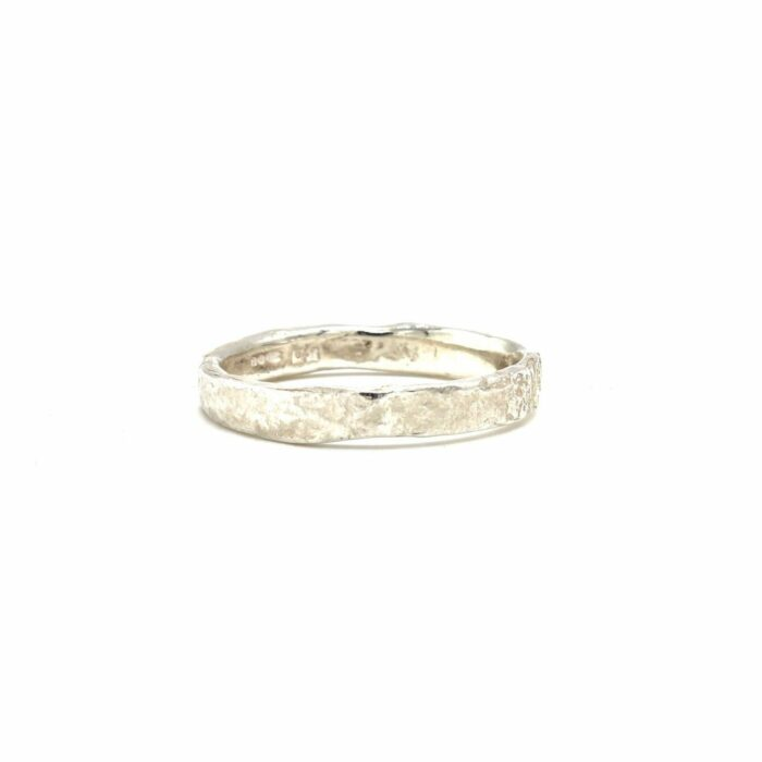 rough textured silver ring