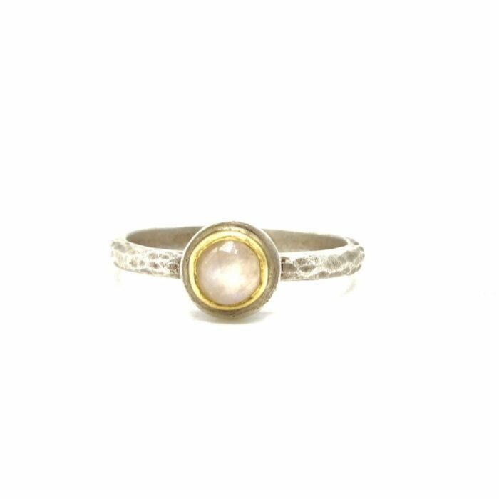 gold set moonstone ring