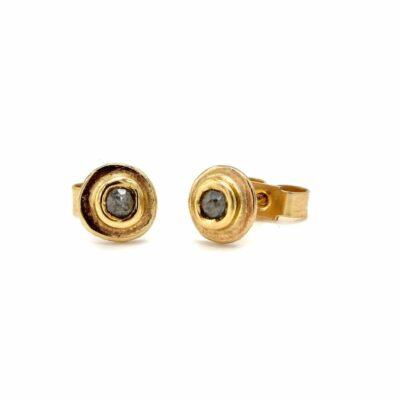 salt and pepper diamond stud earrings