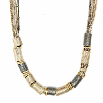 luxury rolled gold silver chain necklace