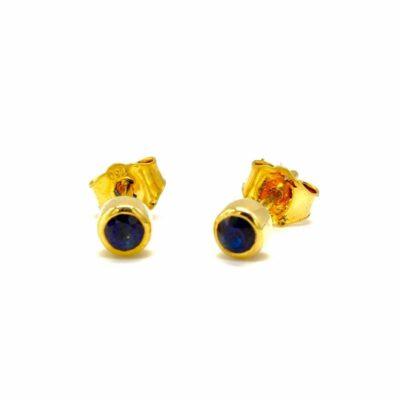 18ct gold sapphire studs