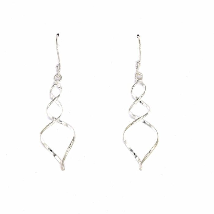 sterling silver spiral drops