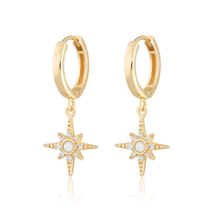 Gold Plated Starburst Hoops- Armed & Gorgeous