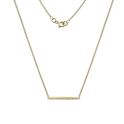 9ct Gold Square Bar Necklace- Armed & Gorgeous