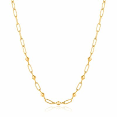 Heavy Spike Necklace (Silver/Gold Plate)- Armed & Gorgeous