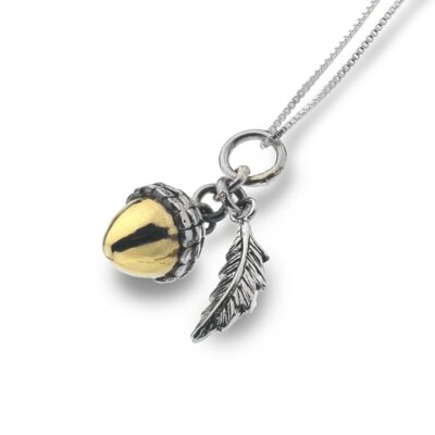 Silver and Gold Plate Acorn Pendant- Armed & Gorgeous