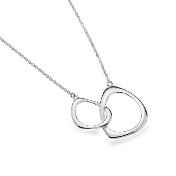 Silver Organic Shapes Necklace- Armed & Gorgeous