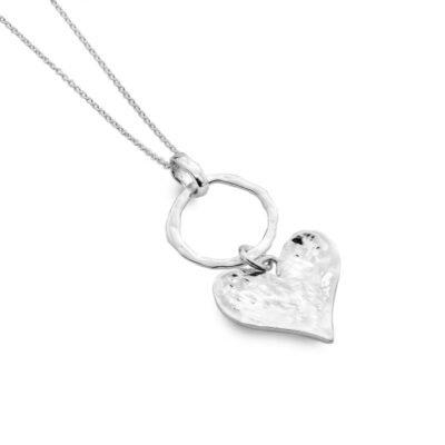 Hammered Heart and Circle Pendant- Armed & Gorgeous