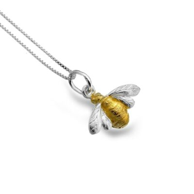 Silver and Gold Plate Bee Pendant- Armed & Gorgeous
