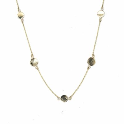 9ct Disc Necklace- Armed & Gorgeous